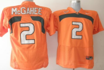 Miami Hurricanes #2 McGahee Orange Jersey