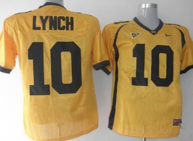 California Golden Bears #10 Lynch Yellow Jersey
