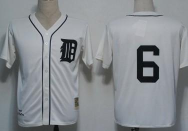 watch e69f4 2145c Detroit Tigers #6 Al Kaline 1968 Cream Throwback Jersey on ...