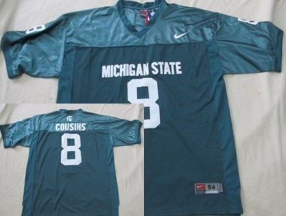 Michigan State Spartans #8 Kirk Cousins Green Jersey