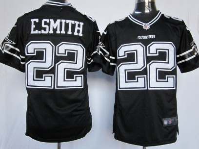 buy online d22a9 126e3 Nike Dallas Cowboys #22 Emmitt Smith Black Game Jersey on ...