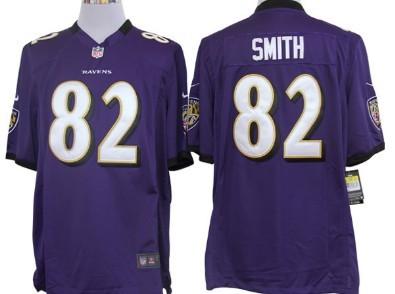 Nike Baltimore Ravens #82 Torrey Smith Purple Game Jersey
