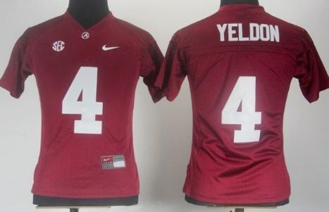 Alabama Crimson Tide #4 T.J Yeldon Red Womens Jersey