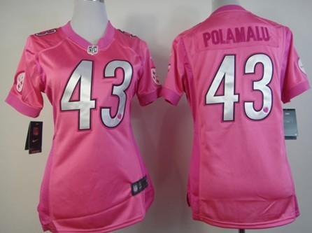quality design 0b889 579b7 Nike Pittsburgh Steelers #43 Troy Polamalu Breast Cancer ...