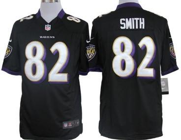 Nike Baltimore Ravens #82 Torrey Smith Black Game Jersey