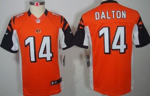 Nike Cincinnati Bengals #14 Andy Dalton Orange Limited Kids Jersey ...