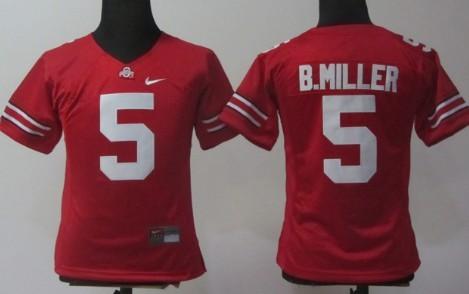 Ohio State Buckeyes #5 Braxton Miller Red Womens Jersey