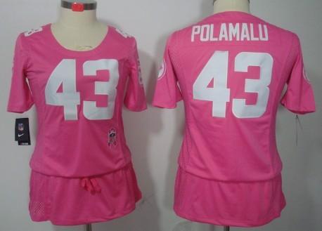 quality design 08716 34974 Nike Pittsburgh Steelers #43 Troy Polamalu Breast Cancer ...