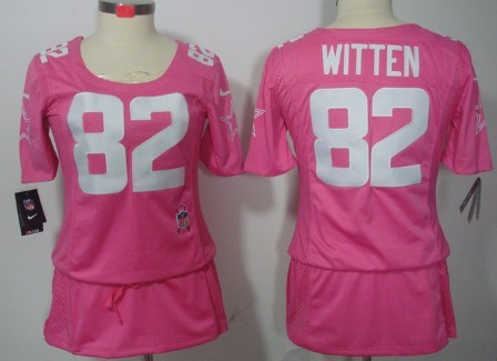 brand new bc890 f0b0b Nike Dallas Cowboys #82 Jason Witten Breast Cancer Awareness ...
