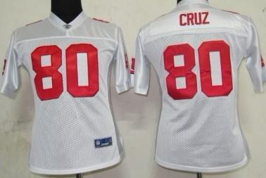 New York Giants #80 Victor Cruz 2011 White Womens Jersey