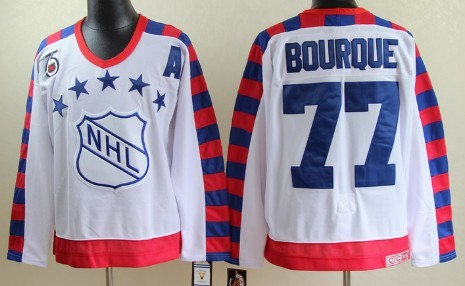 NHL 1992 All-Star #77 Ray Bourque White 75TH Throwback CCM Jersey