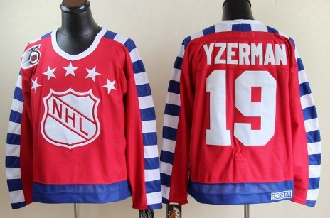 NHL 1992 All-Star #19 Steve Yzerman Red 75TH Throwback CCM Jersey