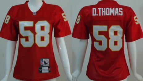 Kansas City Chiefs # Derrick Thomas Red Throwback Womens Jersey
