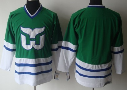Hartford Whalers Blank Green Throwback CCM Jersey