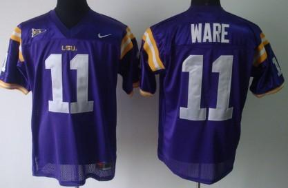 LSU Tigers #11 Spencer Ware Purple Jersey