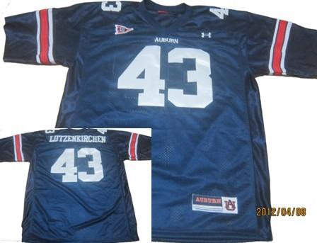 Auburn Tigers #43 Philip Lutzenkirchen Navy Blue Throwback Jersey