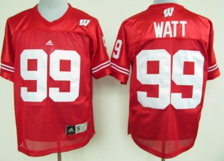 Wisconsin Badgers #99 J.J. Watt Red Jersey