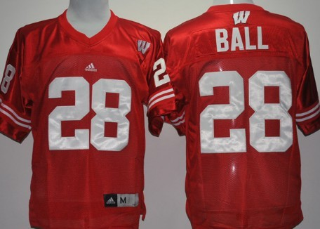 Wisconsin Badgers #28 Montee Ball Red Jersey