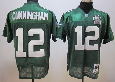 new arrival 2f1b1 b6399 Philadelphia Eagles #12 Randall Cunningham Dark Green ...