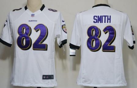 Nike Baltimore Ravens #82 Torrey Smith White Game Jersey