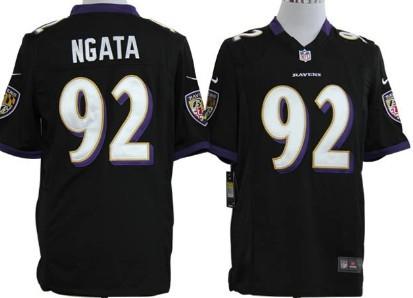 Nike Baltimore Ravens #92 Haloti Ngata Black Game Jersey