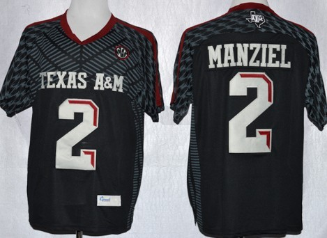 Texas A&M Aggies #2 Johnny Manziel 2013 Black Jersey