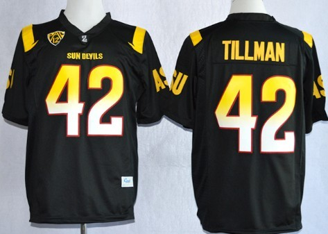 Arizona State Sun Devils #42 Pat Tillman 2013 Black Jersey