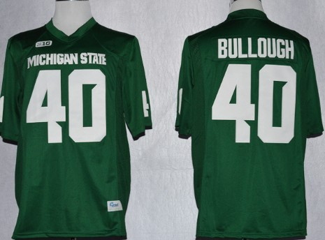 Michigan State Spartans #40 Max Bullough 2013 Green Jersey