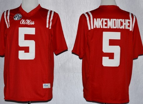 Ole Miss Rebels #5 Robert Nkemdiche 2013 Red Jersey