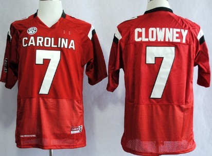 South Carolina Gamecocks #7 Jadeveon Clowney 2013 Red Jersey