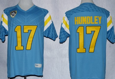 UCLA Bruins #17 Brett Hundley Light Blue Jersey
