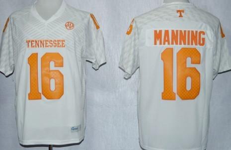 Tennessee Volunteers #16 Peyton Manning 2013 White Jersey