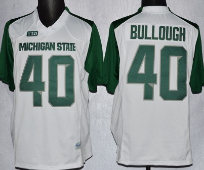 Michigan State Spartans #40 Max Bullough 2013 White Jersey