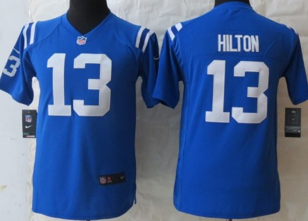 Nike Indianapolis Colts #13 T.Y. Hilton Blue Game Kids Jersey