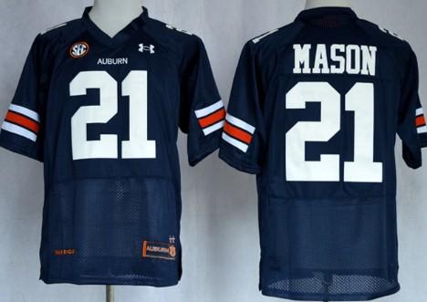 Auburn Tigers #21 Tre Mason Navy Blue Jersey