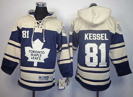Old Time Hockey Toronto Maple Leafs #81 Phil Kessel Navy Blue Kids Hoodie