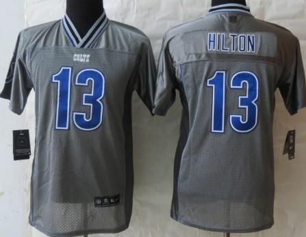 Nike Indianapolis Colts #13 T.Y. Hilton 2013 Gray Vapor Kids Jersey