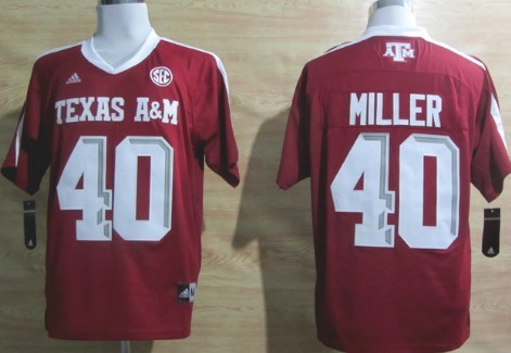 Texas A&M Aggies #40 Von Miller Red Jersey
