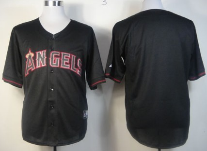 LA Angels of Anaheim Blank Black Fashion Jersey