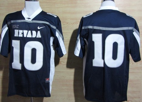 Nevada Wolf Pack #10 Colin Kaepernick Navy Blue WAC Patch Jersey