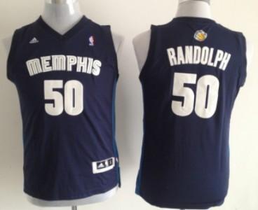 Memphis Grizzlies #50 Zach Randolph Navy Blue Kids Jersey