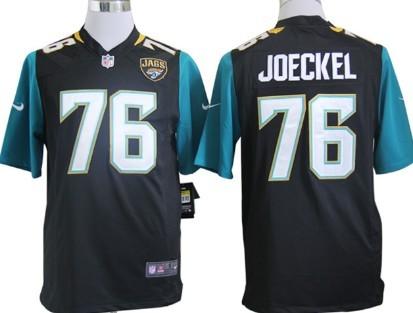 Nike Jacksonville Jaguars #76 Luke Joeckel 2013 Black Game Jersey