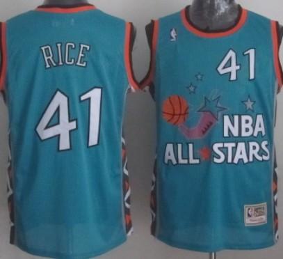 NBA 1996 All-Star #41 Glenn Rice Green Swingman Throwback Jersey