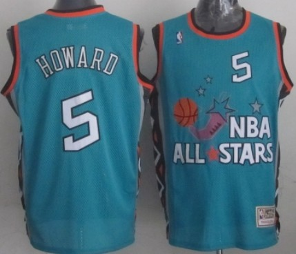 NBA 1996 All-Star #5 Juwan Howard Green Swingman Throwback Jersey