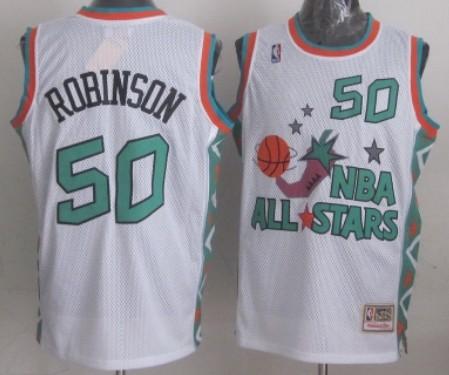 NBA 1996 All-Star #50 David Robinson White Swingman Throwback Jersey