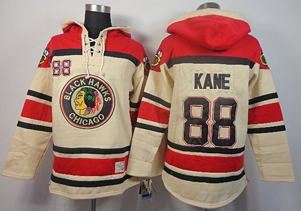 Old Time Hockey Chicago Blackhawks #88 Patrick Kane Cream Hoodie ...