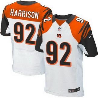 Nike Cincinnati Bengals #92 James Harrison White Elite Jersey on ...