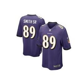 Nike Baltimore Ravens #89 Steve Smith Sr Purple Game Jersey
