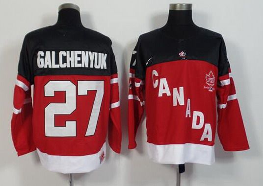2014-15 Men's Team Canada #27 Alex Galchenyuk Red 100TH Anniversary Jersey