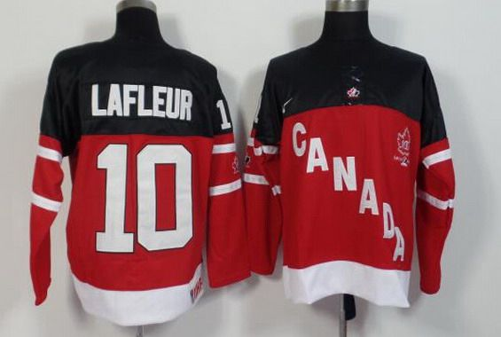 2014-15 Men's Team Canada #10 Guy Lafleur Retired Player Red 100TH Anniversary Jersey